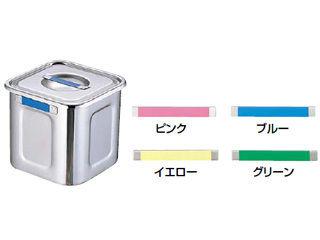 Sampo/三宝産業 18-8カラープレート付角キッチンポット/24cm ブルー