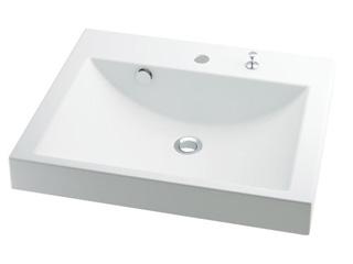 KAKUDAI/カクダイ 493-072H 角型洗面器 (ポップアップ独立つまみタイプ)