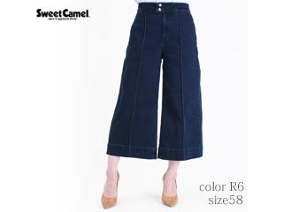 Sweet Camel/スイートキャメル クールストレッチデニム ワイドフレアクロップド[Sunflower] 【R6=濃色加工色/size58】(CA6396)
