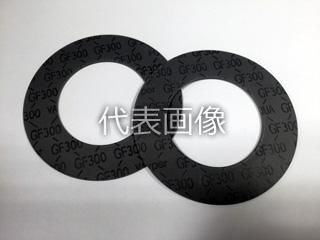 VALQUA/日本バルカー工業 フッ素樹脂ブラックハイパー GF300-1.5t-RF-10K-400A(1枚)