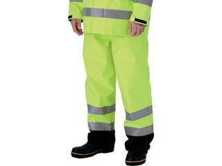 MIDORI ANZEN/ミドリ安全 雨衣 レインベルデN 高視認仕様 下衣 蛍光イエロー Mサイズ RAINVERDE-N-SITA-Y-M