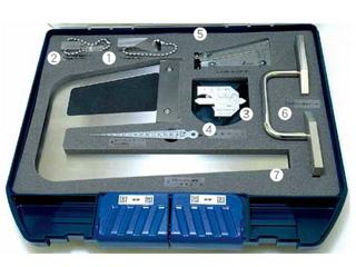 SHINWA/シンワ測定 鉄骨精度測定器具 7点セット 97794
