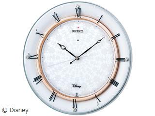 SEIKO/セイコークロック FS501W ディズニー電波掛時計 飾り(スワロフスキー)つき