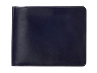 Il Bussetto/イルブセット Wallet【ネイビー】 二つ折り財布 (コインケース付)