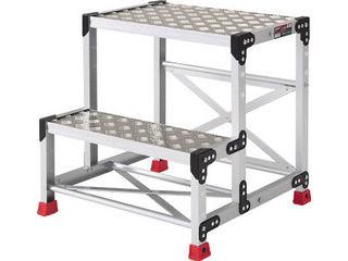TRUSCO/トラスコ中山 作業用踏台 アルミ製・縞板タイプ 天板寸法500X400XH600 TSFC-256
