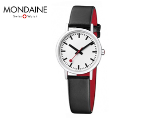 MONDAINE/モンディーン A658.30323.16OM クラシック ピュア 30mm ホワイト ブラック×レッドレザー レディース