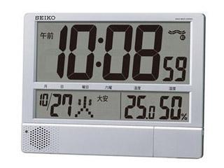 SEIKO/セイコークロック SQ434S 電波時計プログラム機能付 掛置き兼用 /温湿度表示/日付表示