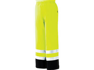 MIDORI ANZEN/ミドリ安全 雨衣 レインベルデN 高視認仕様 下衣 蛍光イエロー Lサイズ RAINVERDE-N-SITA-Y-L