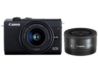 CANON/キヤノン EOS M200・ダブルレンズキット(ブラック) ミラ-レスカメラ 3699C021