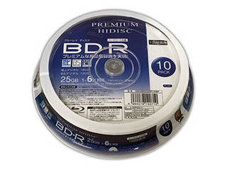 HIDISC 20個セット HIDISC BD-R 1回録画 6倍速 25GB 10枚 スピンドルケース HDVBR25RP10SPX20