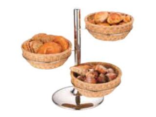 【人気急上昇】 Sampo/三宝産業 PPラタン製 パンかごスタンド 丸型, イズミグン f8ab0e63