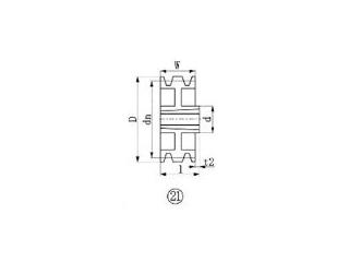 EVER-ON/エバオン ブッシングプーリー SPZ 315mm 溝数3 SPZ315-3