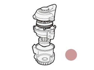 SHARP/シャープ サイクロンクリーナー用 ダストカップセット<ピンク系> [2171370250]