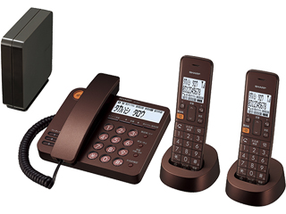 【nightsale】 SHARP/シャープ JD-XG1CW-T コードレスデザイン電話機 親機1台+子機2台 ブラウンメタリック
