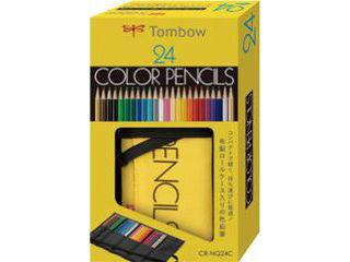 トンボのNQシリーズからロールケースタイプの色鉛筆 Tombow トンボ鉛筆 ロールケース入り 24色 ◆セール特価品◆ NQ 祝日 CR-NQ24C 色鉛筆
