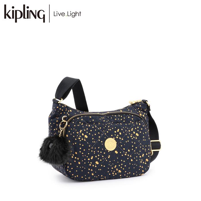 《正規品》 KIPLING/キプリング CAI/カイ ショルダーバッグ ツイストレジャーコレクション (Golden Night/ゴールデンナイト) バッグ 鞄 レディース 軽量 ナイロン
