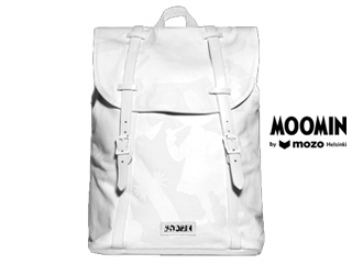 Moomin by mozo/ムーミンバイモゾ ムーミン■プレミアムキャンバスバックパック 【ホワイト/シャドウ 】BPWSH