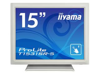 iiyama/飯山 15型タッチパネル液晶ディスプレイ ProLite T1531SR-W5 (抵抗膜方式/USB通信/防塵防滴) ピュアホワイト