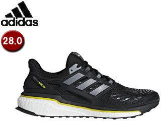 adidas/アディダス CQ1762 energy BOOST 4 ランニングシューズ 【28.0cm】 (コアブラック×ナイトメット×ビビッドイエロ)