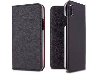 LORNA PASSONI ロルナパッソーニ German Shrunken Calf Folio Case for iPhone XR [Black] LPBLKFLIP1861 正規代理店 品質保証ポリシー付きケース