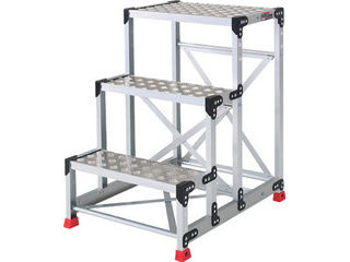 TRUSCO/トラスコ中山 【代引不可】作業用踏台 アルミ製・縞板タイプ 天板寸法600X400XH900 TSFC-369