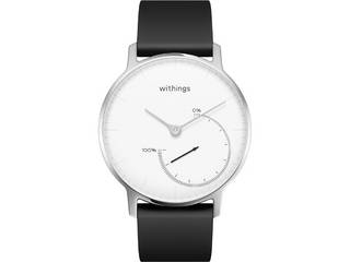 Withings ウィジングズ 在庫限り スマートウォッチ Steel Black & White HWA01-Steel-White-All-JP HWA01-STEEL 対応機種:iOS 7以降・Android 4.3以降