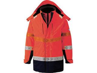XEBEC/ジーベック 801 高視認防水防寒コート Mサイズ オレンジ 801-82-M