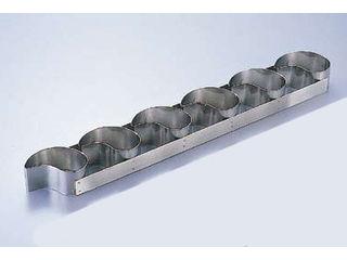 de BUYER/デバイヤー 18-10ケーキリング コンマ型/6連 3101-99