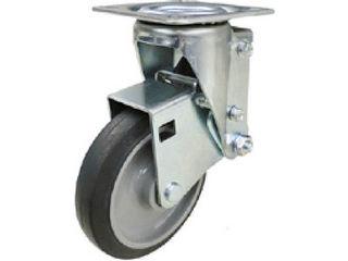 YUEI CASTER/ユーエイ クッションキャスター 125径 自在車 ゴム車輪 SHSKY-S125NRB-30