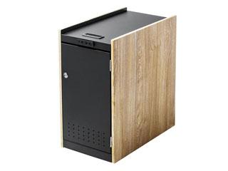 サンワサプライ 鍵付きカバン収納ボックス 電源付き・ブラック WG-TWBOX1LM