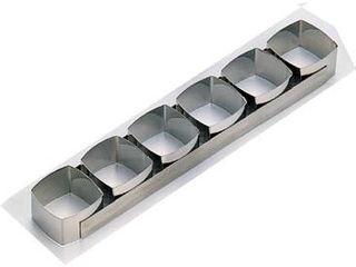 de BUYER/デバイヤー 18-10ケーキリング 正方A型/6連 3103-99