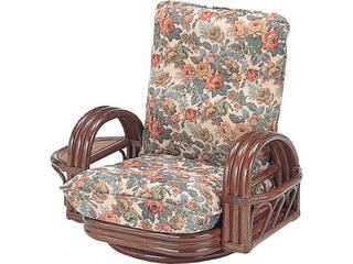 【代引不可商品】籐リクライニング回転座椅子   H28S697
