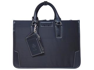 PID/ピー・アイ・ディー 25643 メンズ ドビー織 2層式 ビジネスバッグ (ブラック)