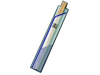 旭和商行 割箸袋入 ピース紺 白樺元禄 20.5/(1ケース100膳×40入)