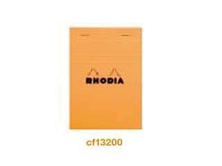 RHODIA/ロディア ブロックロディアNo.13 方眼 オレンジ CF13200
