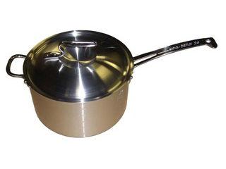 贈呈 熱くならない取っ手 nakao 中尾アルミ製作所 ニューキングデンジ 24cm 深型片手鍋 安全 目盛付