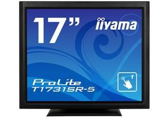 iiyama/飯山 17型タッチパネル液晶ディスプレイ ProLite T1731SR-B5 (抵抗膜方式/USB通信/防塵防滴/マーベルブラック)