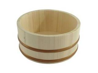 木製の風呂桶 星野工業 湯桶 木製 21cm (湯おけ 洗面器 ウォッシュボール)