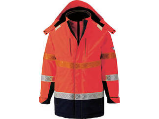 XEBEC/ジーベック 801 高視認防水防寒コート 3Lサイズ オレンジ 801-82-3L