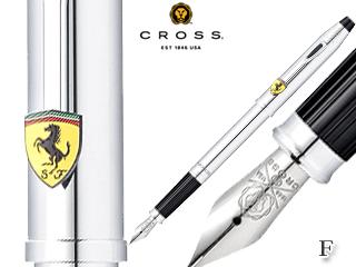 CROSS/クロス 万年筆■センチュリー フォー スクーデリア・フェラーリ【ポリッシュトクローム/F】ステンレスペン先