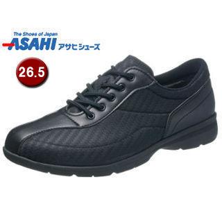 ASAHI/アサヒシューズ KS23432 快歩主義 M030AC メンズ 健康快適 ウォーキングシューズ 【26.5cm・4E】 (ブラック)