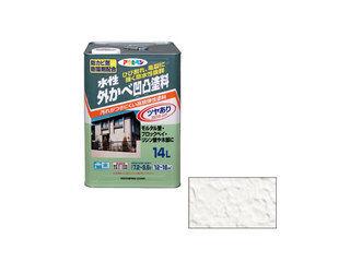ASAHIPEN/アサヒペン 水性外かべ凹凸塗料ツヤあり 14L ホワイト