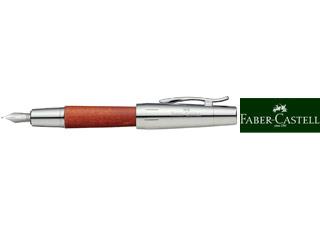 FABER-CASTELL/ファーバーカステル 【E-MOTION/エモーション】ウッド&クローム 梨の木 ブラウン 万年筆 FP F 148201
