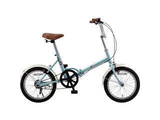 KCD/ケーシーディー 【代引不可商品】f(エフ) 16型折りたたみ自転車 ワイヤーロックセット/FF-Y16/PB-L2