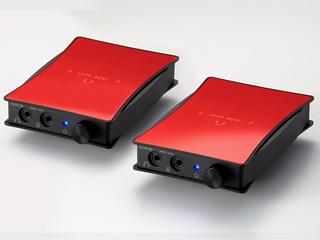 ORB/オーブ JADE next Ultimate bi power FitEar-Balanced with VanNuys bag(Ruby Red) 専用キャリングバッグ付き ポータブルヘッドフォンアンプ(同色2台1セット) FitEarモデル(1.2m) Balancedタイプ(17cm)