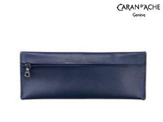 CARAN dACHE/カランダッシュ 【La Collection Cuir/ラ コレクション クール】ペンポーチ ミッドナイトブルー 6803-549