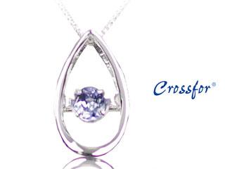 Crossfor/クロスフォー SSD-0262TZ-WG タンザOV 【限定】 ダンシングストーンネックレス 【※鑑別書ご希望の場合は2週間ほどお時間かかります。】 dancingstone ダイヤ ダイヤモンド 結婚記念日 誕生日 プレゼント ギフト クリスマス ホワイトデー 彼女