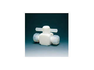 Flon/フロンケミカル フッ素樹脂(PTFE)二方バルブ圧入型 8φ NR0003-002