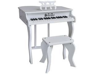 37鍵盤のトイピアノ ※納期にお時間がかかる場合がございます Schoenhut シェーンハット 372W 37-Key White Elite Baby Grand Piano 九州地方 お子様向け 沖縄 セール開催中最短即日発送 北海道 37鍵盤 その他の離島は配送できません 配送時間指定不可 プレゼント 感謝価格 Bench トイピアノ and