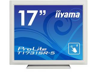iiyama/飯山 17型タッチパネル液晶ディスプレイ ProLite T1731SR-W5 (抵抗膜方式/USB通信/防塵防滴/ピュアホワイト)